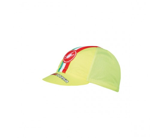 CASTELLI Performance Cycling cap / Fietsmuts Yellow Fluo onesize