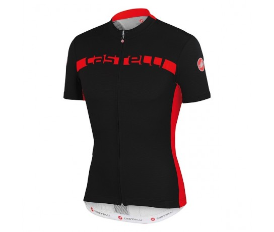 CASTELLI  Prologo 4 Jersey / Wielershirt Black/Red