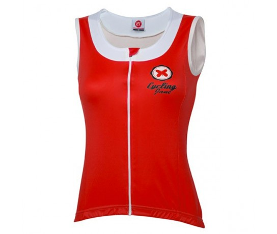 21Virages Wielershirt dames Sleeveless-rood