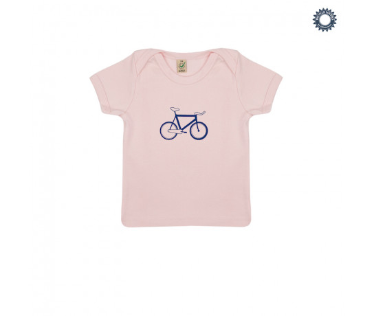 SillyScreens Baby T-shirt baby  Roze  / BABYRACER, wieler T-shirt, Baby Pink