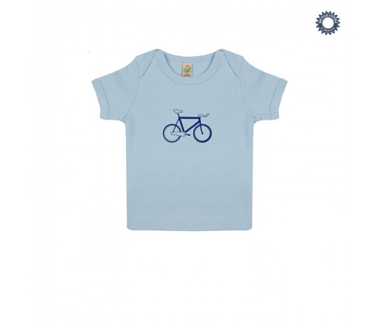 SillyScreens Baby T-shirt baby  Blauw  / BABYRACER, wieler T-shirt, Baby Blue
