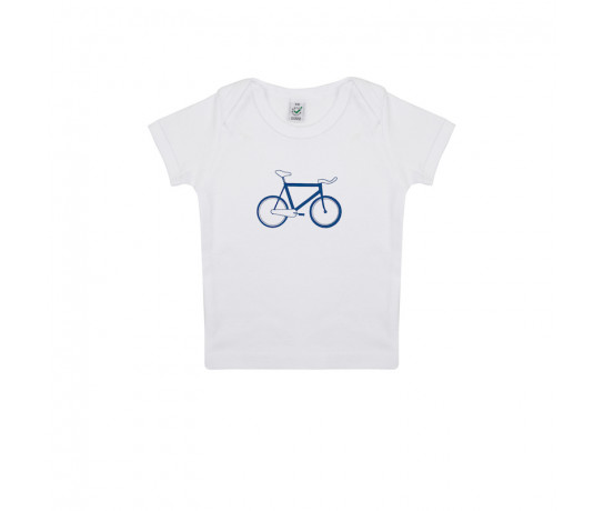 SillyScreens Baby T-shirt baby  Wit  / BABYRACER, wieler T-shirt, White