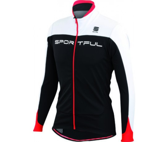 Sportful Flash SoftShell Jacket / Fietsjack Zwart Rood Wit