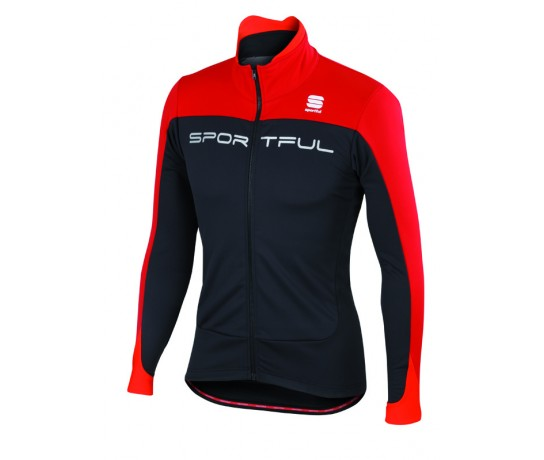 Sportful Flash SoftShell Jacket / Fietsjack Zwart rood