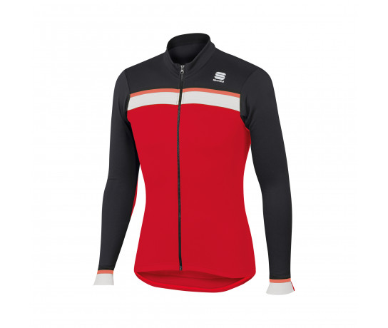 Sportful Fietsshirt lange mouwen Heren Rood Zwart / SF Pista Thermal Jersey-Red/Black/White/Red Fluo
