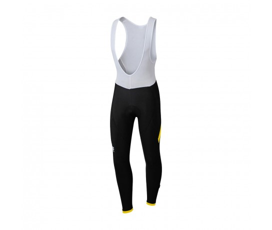 Sportful Giro Bib Tight / Fietsbroek Zwart Fluo Geel