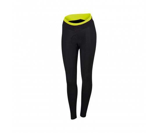 Sportful Fietsbroek lang Dames Zwart Fluo / SF Luna Tight-Black/Yellow Fluo