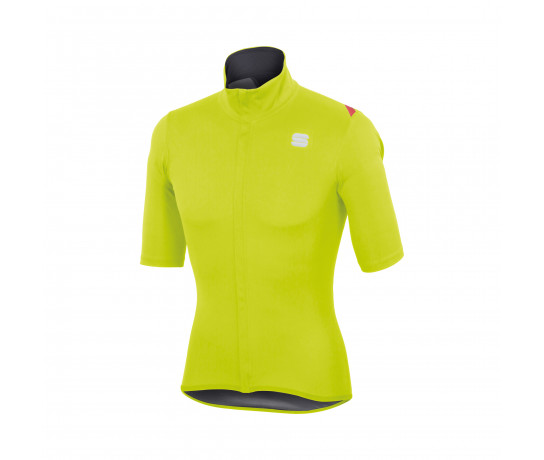 Sportful Regenjack Heren fluo / SF Fiandre Light Norain Short Sle-Yellow Fluo