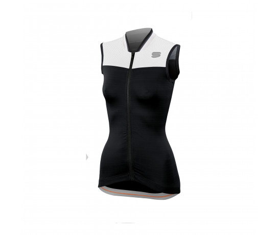 Sportful Fietsshirt mouwloos Dames Zwart Wit / SF Grace Sleeveless-Black/White