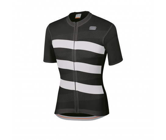 Sportful Fietsshirt korte mouwen Heren Zwart Wit / SF Team 2.0 Ribbon Jersey-Black/White