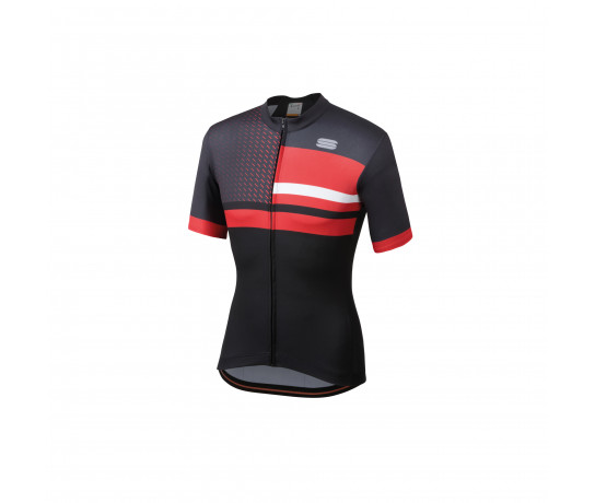 Sportful Fietsshirt korte mouwen Heren Zwart Grijs / SF Team 2.0 Drift Jersey-Black/Anth/Red