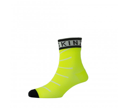 Sealskinz Fietssokken Fluo Zwart / SS Super Thin Pro Ankle sock with Hydrostop-Neon Yel/White/Black