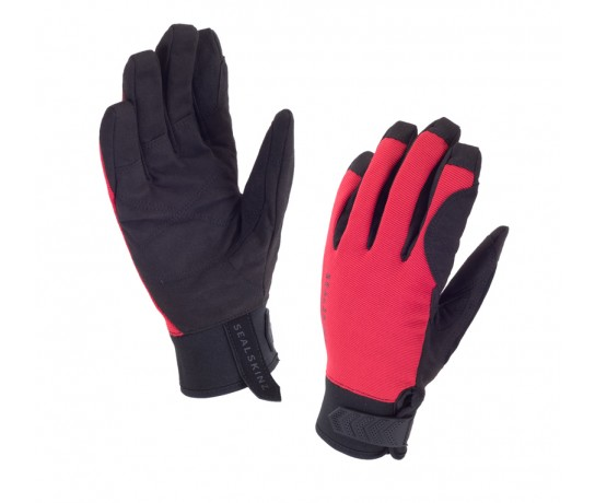 SealSkinz Dragon Eye Road Glove  / Fietshandschoen  Zwart Rood