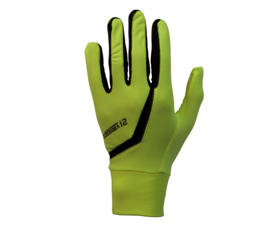 Fietshandschoenen 21Virages winter fleece Fluo Zwart