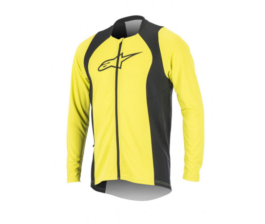 Alpinestars MTB shirt lange mouwen Heren Fluo Zwart /  AL Drop 2 Full Zip L/S Jersey-Acid Yellow Black