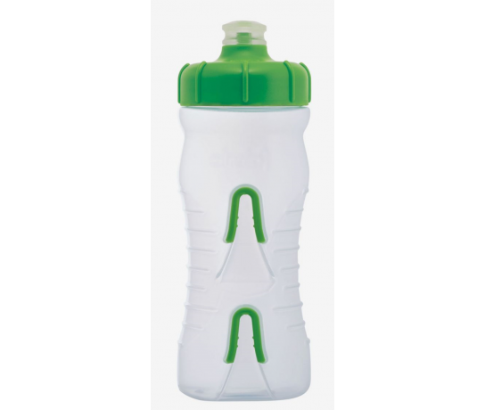 Fabric Bidon 600ML Cageless Transparant-Groen / Cageless Bottle CLG 600ml