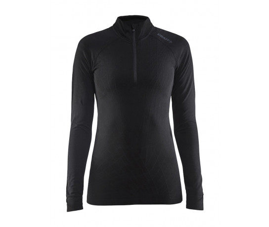 Craft Ondershirt Dames Zwart  / ACTIVE INTENSITY ZIP W BLACK