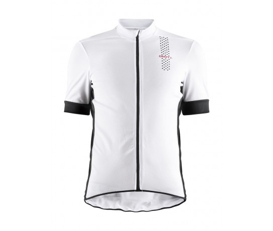 Craft Fietsshirt Heren Wit Zwart / RISE JERSEY M WHITE/BLACK
