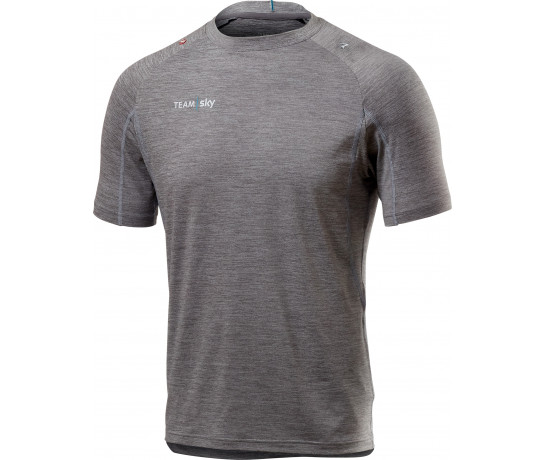 Castelli Casual T-shirt Heren Grijs  - CA SKY Tech Pro T-Shirt Light Grey Melange