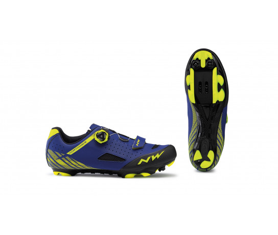 Northwave MTB fietsschoenen Heren Blauw Fluo /  ORIGIN PLUS BLUE/YELLOW FLUO