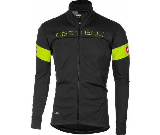 Castelli Fietsjack Heren Grijs Fluo / CA Transition Jacket Dark Gray/Yellow Fluo