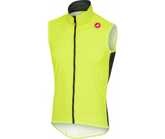 Castelli Windstopper Heren Fluo / CA Pro Light  Wind  Vest Yellow Fluo