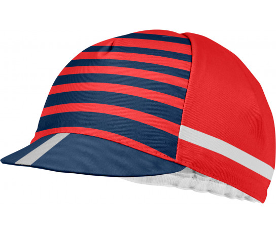 Castelli Koerspetje Heren Rood Blauw - CA Free Kit Cycling Cap-Red/China Blue
