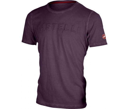 Castelli Casual T-shirt Heren Rood  - CA Bassorilievo Tee-Barbaresco Red