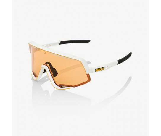 100p Fietsbril / Glendale Persimmon Lens Soft Tact Off White