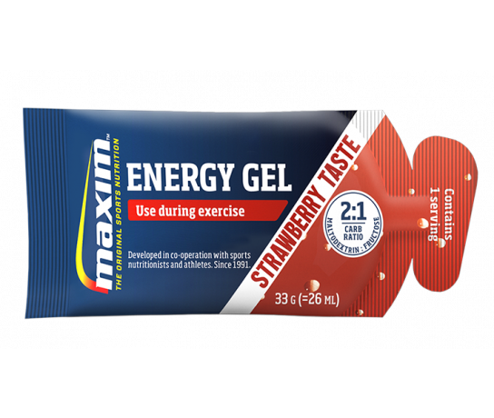Maxim Energy Gel Strawberry (25x33 gr.) 20 + 5 gratis