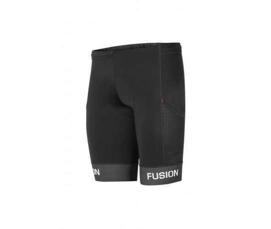 Fusion Triathlon broek zonder bretels Unisex Zwart / TRI PWR BAND POKT TIGHTS BLACK/BLACK
