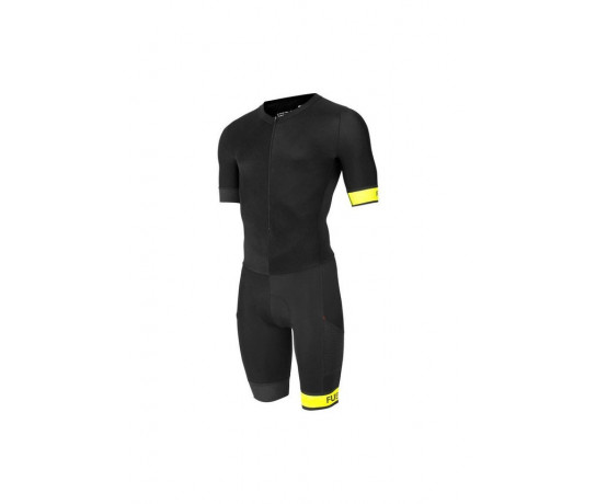 Fusion Triathlon snelpak Unisex Zwart / SPEED SUIT SUBLI BAND BLACK/FYELLOW