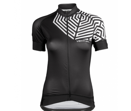 Vermarc Fietsshirt korte mouwen Dames Zwart Wit / GRAFICA Women Short Sleeves - Black/White