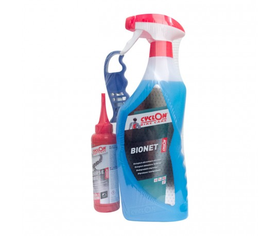 Cyclon Dry weather Lube 125ml  +  Bionet Triggerspray 750ml + Cassette Borstel