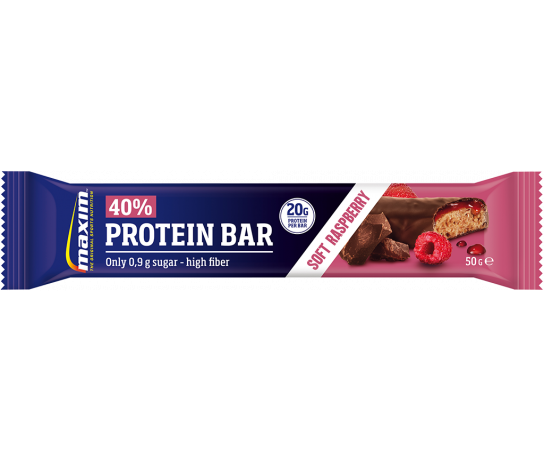 Maxim 40% Protein Bar Soft Raspberry 50 gr.