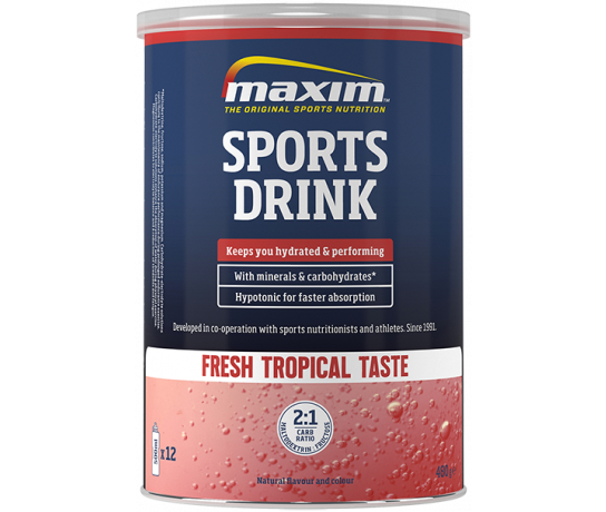Maxim Hypotonic Sports Drink Tropical 480 gr.
