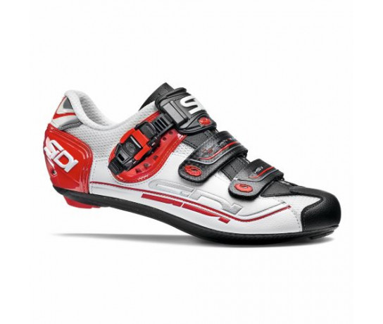 Sidi Race Fietsschoenen Wit Zwart Heren / Genius 7 White/Black/Red