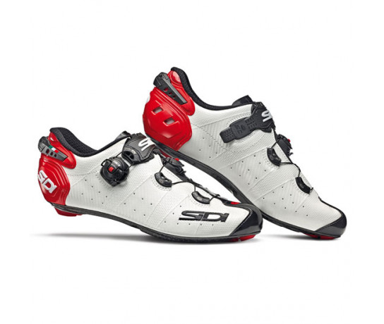 Sidi Race Fietsschoenen Wit Zwart Heren / Wire 2 Carbon White/Black/Red