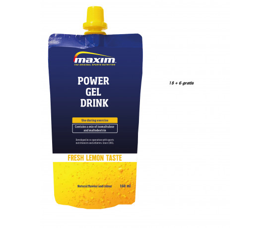 Maxim Power Gel Drink Lemon 24x160 ml