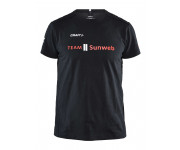 Craft Casual T Shirt Unisex Zwart Rood / TEAM SUNWEB TEE BLACK