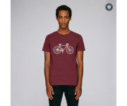 SillyScreens Casual wieler T-shirt heren medium fit Bordeaux  / VINTAGE RACER, Heren wieler T-shirt, Burgundy