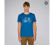 SillyScreens Casual wieler T-shirt heren medium fit Blauw  / RACEFIETS, Heren wieler T-shirt, Royal Blue
