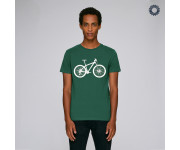 SillyScreens Casual wieler T-shirt heren medium fit Groen  / MOUNTAINBIKE, Heren wieler T-shirt, Bottlegreen