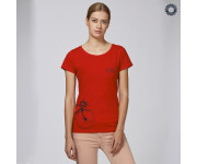 SillyScreens Casual wieler T-shirt dames Fitted Rood  / SPOKESWOMAN, Dames wieler T-shirt, BRIGHT RED