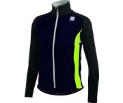 Sportful Kids SoftShell Jacket / Kinder Fietsjack Antraciet Zwart Fluo Geel