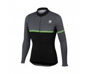Sportful Fietstop Heren Zwart Fluo / SF Giara Warm Top-Black/Melange/Gr Fluo