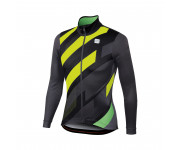 Sportful Fietsshirt lange mouwen Heren Zwart Grijs / SF Volt Thermal Jersey-Black/Anthr/Yellow Fl