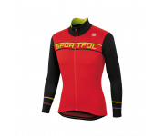 Sportful Fietsshirt lange mouwen Heren Rood Zwart / SF Giro Thermal Jersey-Red/Black