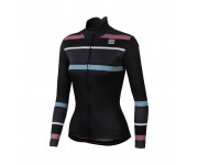 Sportful Fietsshirt lange mouwen Dames Zwart / SF Stripes Thermal Jersey-Black