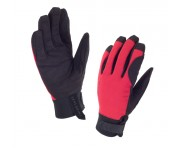 SealSkinz Women Dragon Eye Road Glove / Fietshandschoen Dames Zwart Rood
